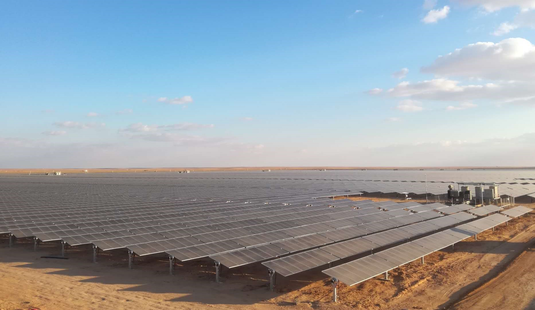 The 300MW Sakaka project, the first large ground-mount plant in Saudi Arabia. Image: Huawei