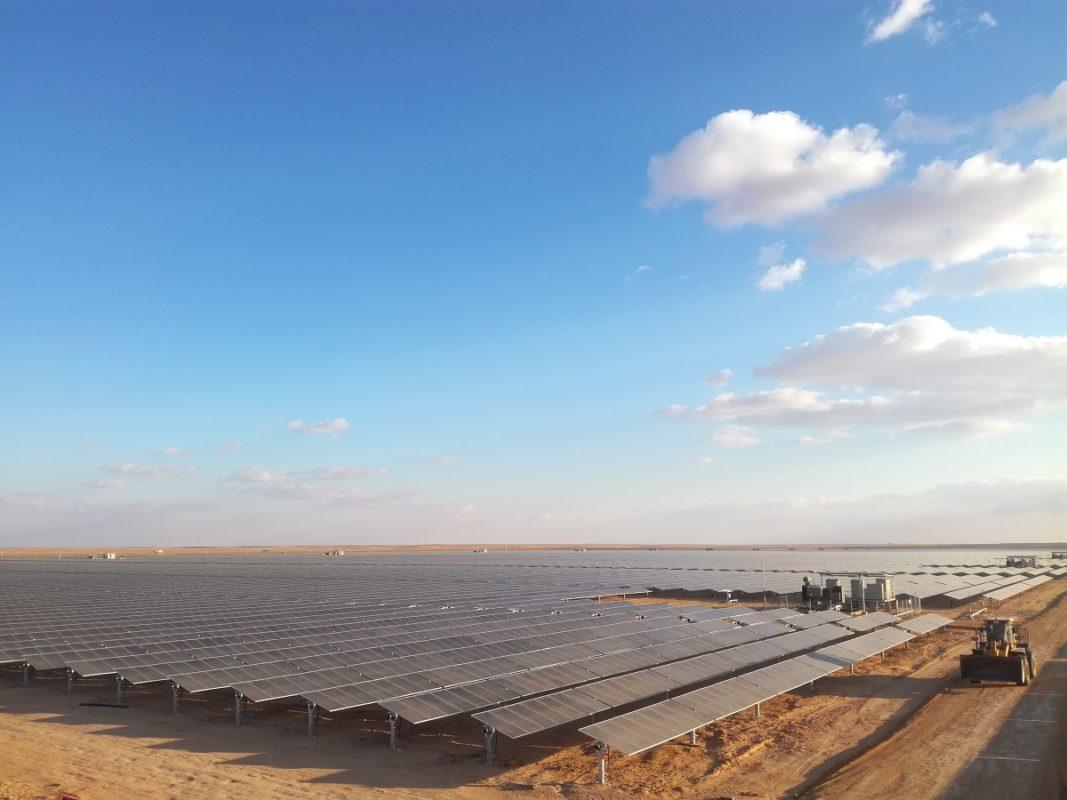 The 300MW Sakaka solar farm in Saudi Arabia. Image: Huawei.