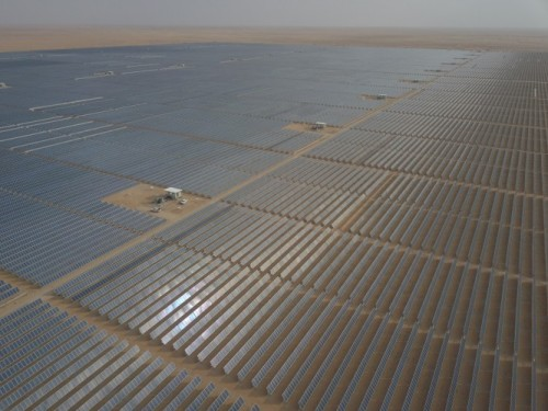 The Sakkara solar farm in Saudi Arabia, completed by ACWA Power. Image: ACWA Power.