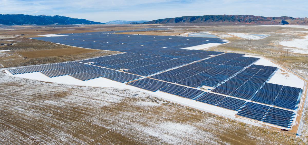 Scatec Solar's 104MW project in Utah. Image: Scatec Solar.