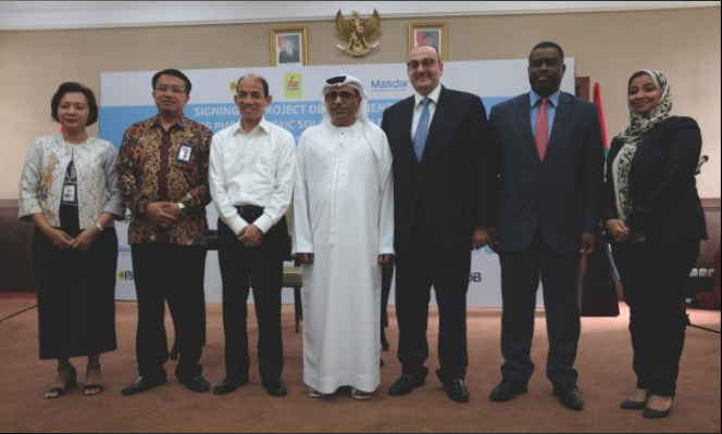 The project could pave the way for the installation of floating solar systems on another 60 reservoirs across Indonesia. Credit: Masdar