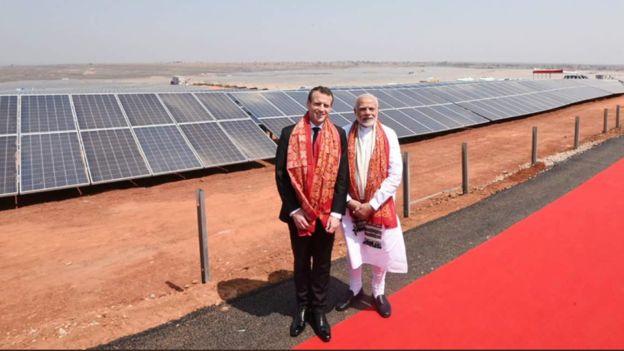 Modi and Macron: credit: Twitter: Ministry of External Affairs