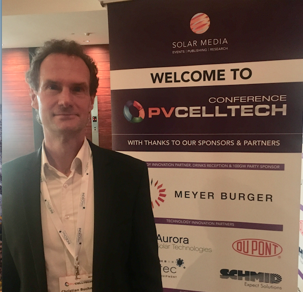 Christian Buchner, Vice President of the Photovoltaics BU at leading PV equipment supplier SCHMID Group at PV CellTech 2018. Credit: Solar Media