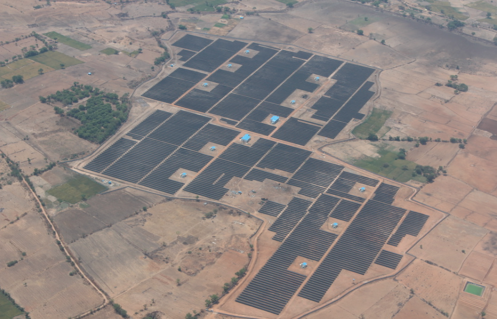 A solar project between Hyderabad and Kavithal