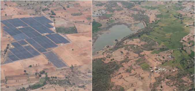 Irrigated green land and the parched regions of Karnataka