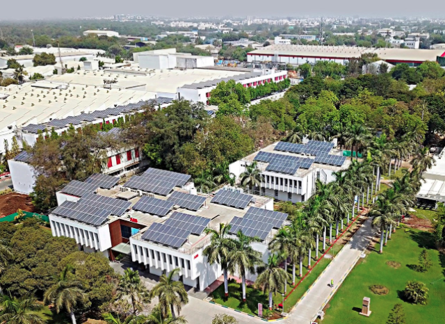 The manufacturing hub is the company's largest facility in India, with over 3,000 employees. Credit: ABB