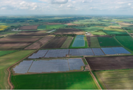 The 5MW Chittering solar farm developed by Lightsource in Cambridgeshire. Image: Lightsource.