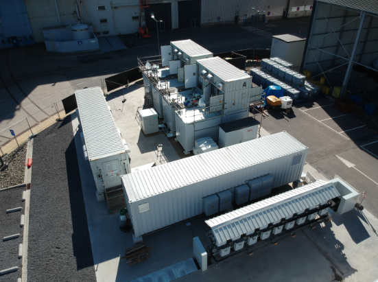 Battery energy storage systems (BESS) onsite. Image: CMI Group.