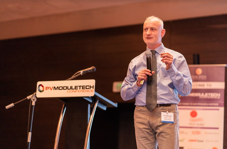 Finlay Colville, head of research at PV-Tech & Solar Media, opens the PV ModuleTech 2018 conference in Penang, Malaysia.