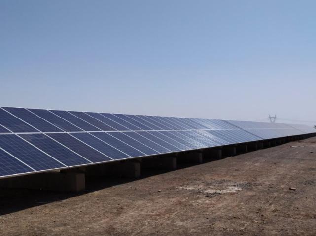 The first 5MW solar power plant of Khorasan Razavi province, Iran. Credit: SATBA