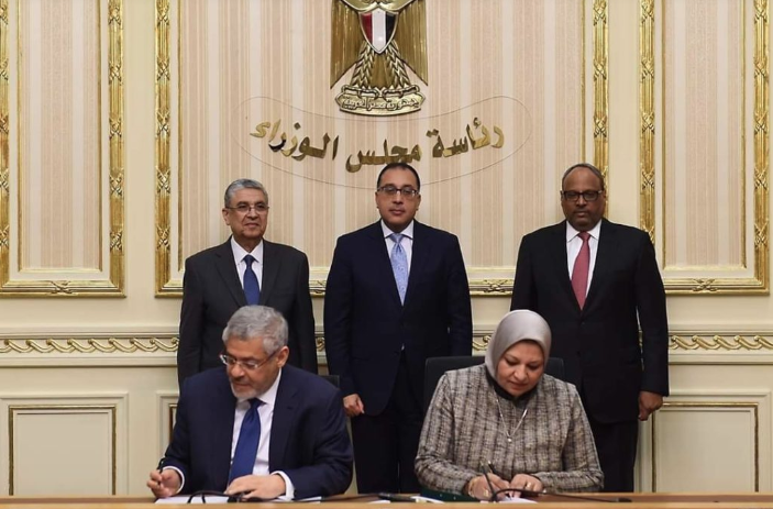The PPA was signed by Eng. Sabah Mashali, President of EETC and Mr. Hussain Al Nowais, Chairman of AMEA Power, on December 10th 2019, in the presence of Egypt's Prime Minister, His Excellency Dr. Mostafa Madbouly; the Minister of Electricity and Renewable Energy, H.E. Mohamed Shaker and the UAE Ambassador to Egypt H.E. Jomaa Al Junaibi, amongst others. Credit: AMEA Power