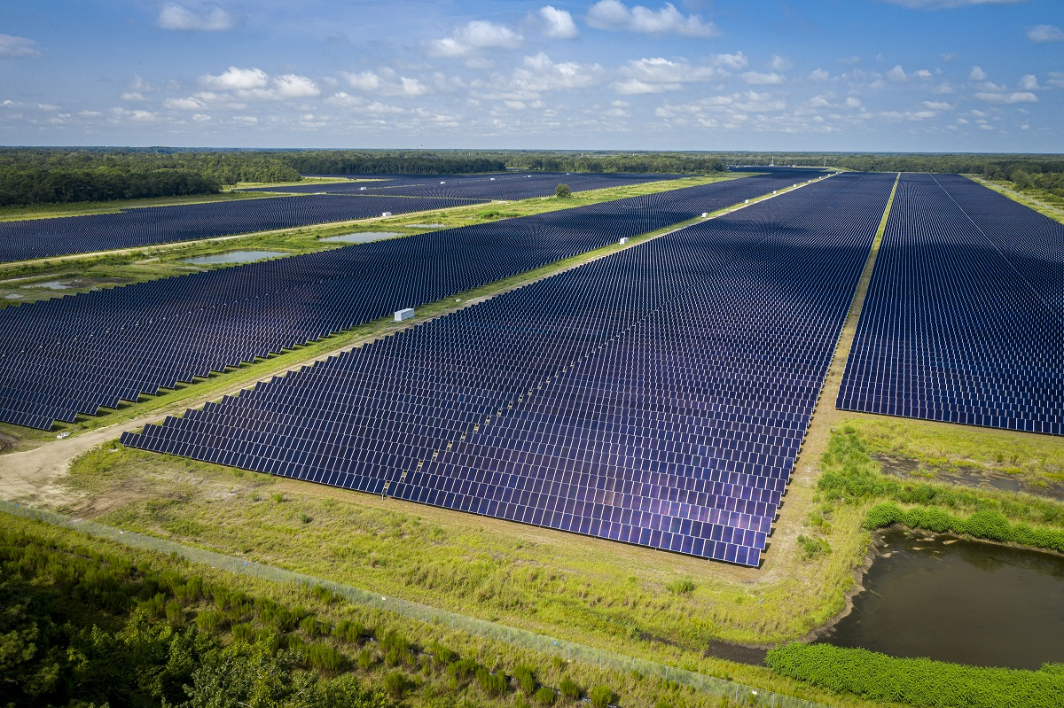 Dominion Energy's Seabrook Solar project in South Carolina. Image: Dominion Energy.
