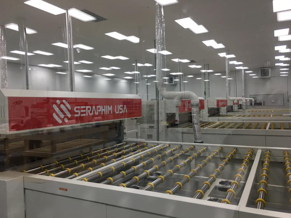 Seraphim Solar USA said that it was ramping module assembly capacity from 160MW per annum to 360MW at its highly-automated facility in Jackson, Mississippi. Image: Seraphim Solar