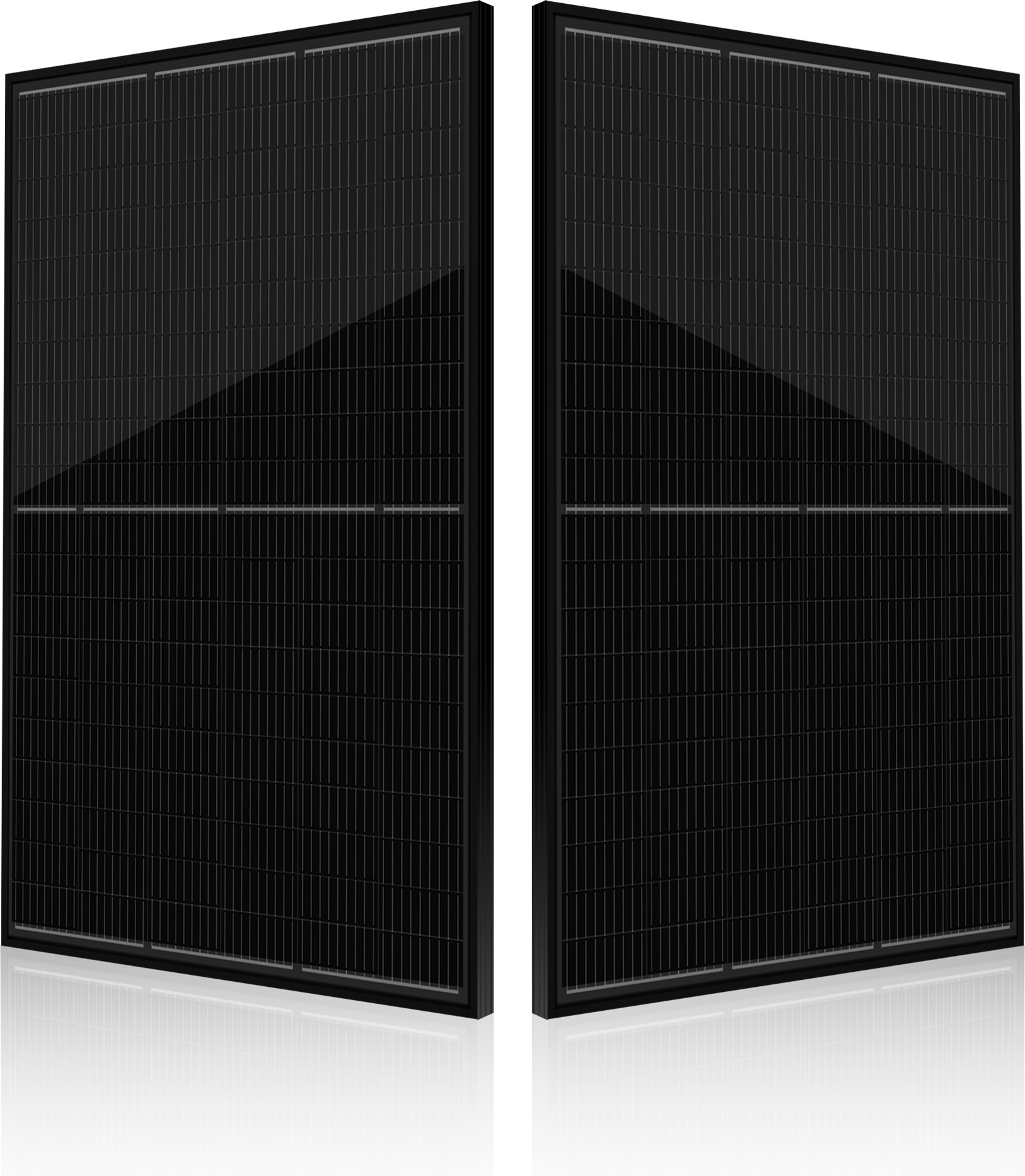 The full-black module utilizes a range of large-area wafers, as well as half-cut cells, offering a power output of up to 330Wp with a module conversion efficiency rate of 19.5%. Image: Seraphim Solar