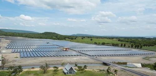 Sharp's 10.3MW PV plant in Lopburi, Thailand. Image: Sharp.
