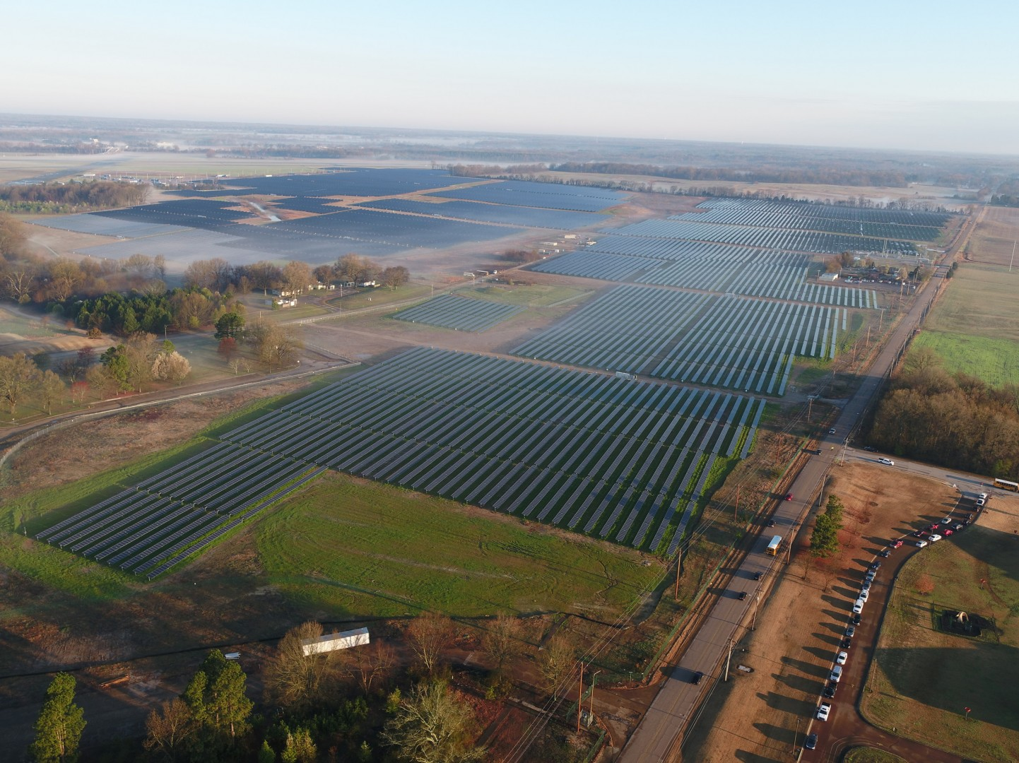 Silicon Ranch employed over 300 people during the construction phase of the project, which has a generation capacity of 53MW. Image: Silicon Ranch