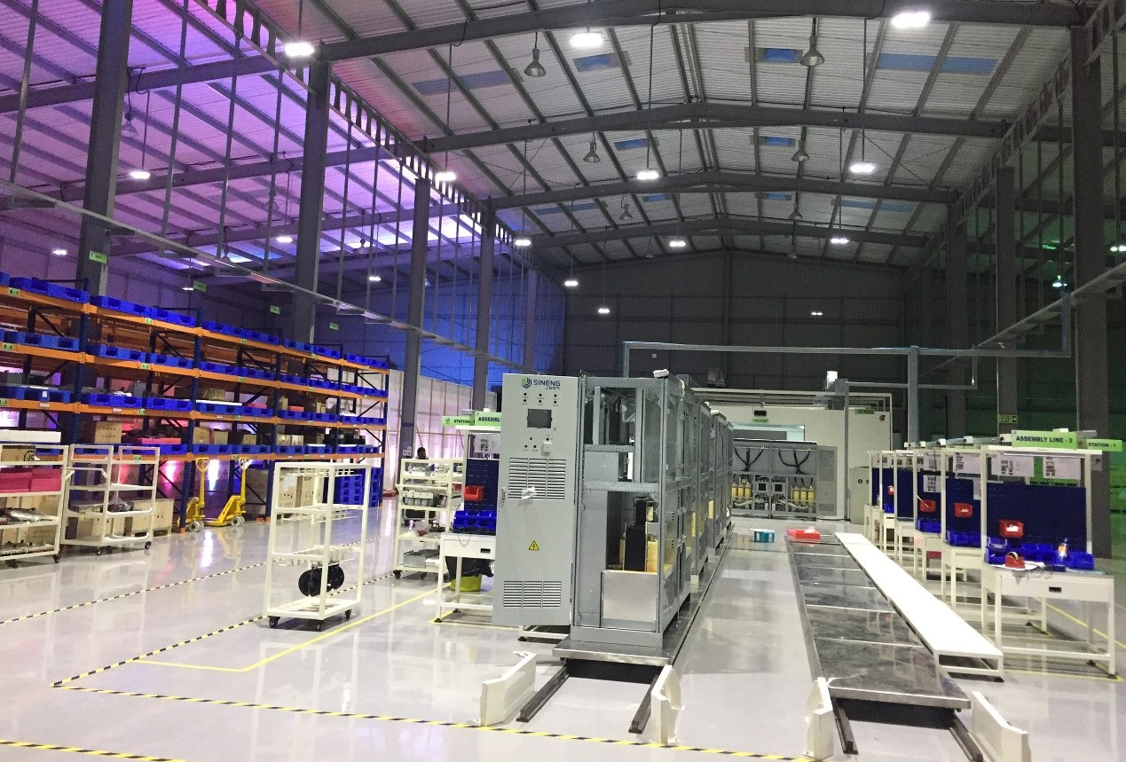 The Indian Factory will not only supply the local market, but also the UAE and other South Asian countries. Credit: Sineng Electric