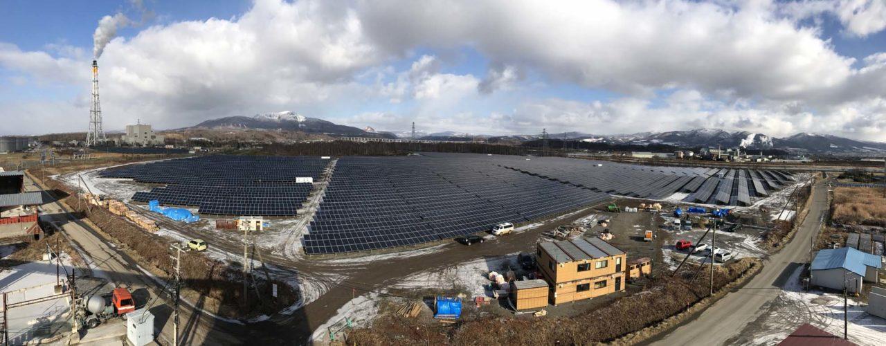 The 10.32MW 'Date' solar farm on the island of Hokkaido, Japan. Source: skytron energy