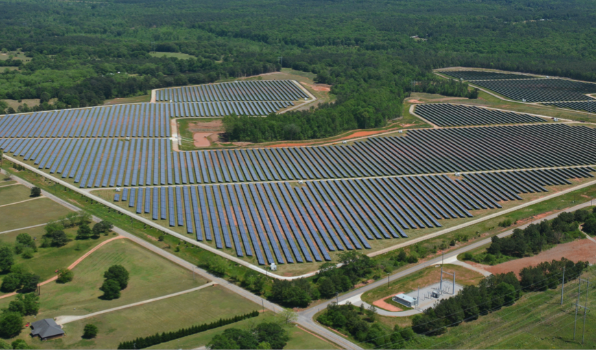 The Social Circle solar farm, one of Silicon Ranch's developments in Georgia.