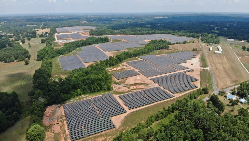 Ruff Solar, a 32MW site that went online last month, is the largest project included in the purchase agreement. Image: Cypress Creek.