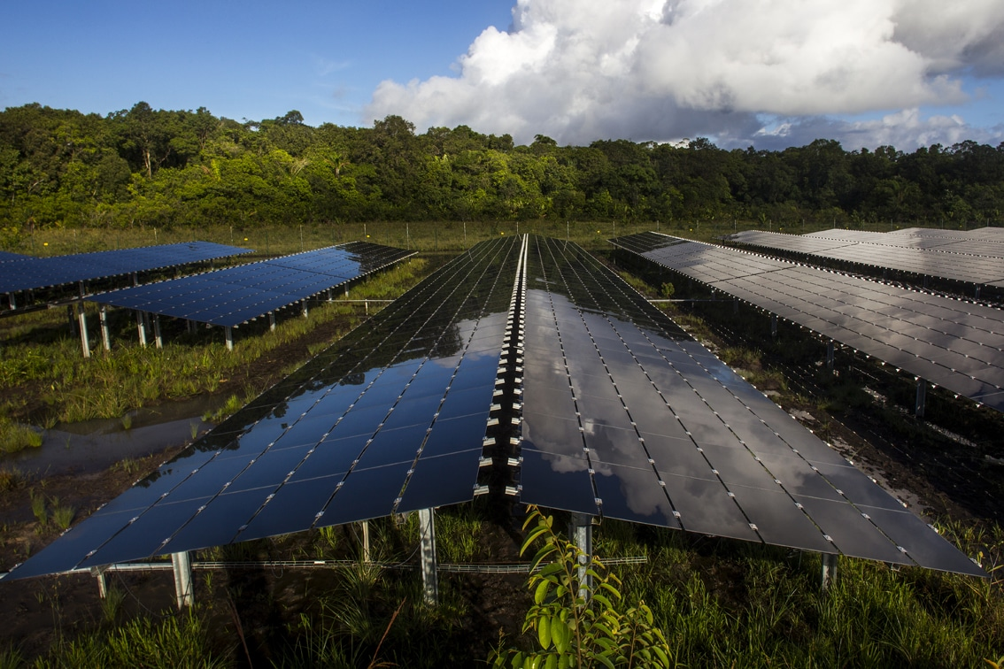 A 5MW EDF solar project in France. Image: EDF/Thierry Montford.