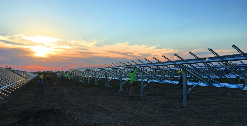 The 58MW PV project  has been developed and managed by Inovateus Solar. Image: Solar FlexRack