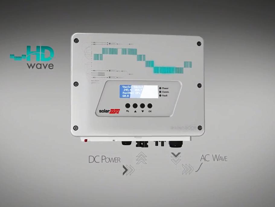 SolarEdge HD Wave lightweight inverter. Image: SolarEdge.