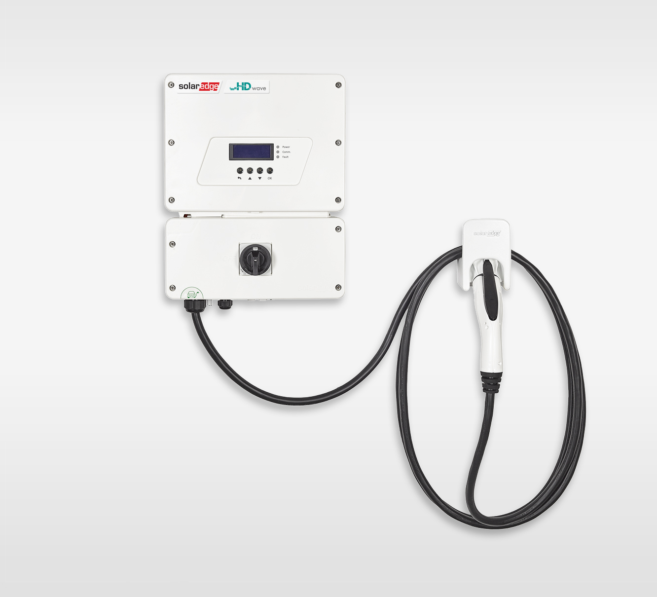 SolarEdge's inverter with an integrated EV charger. Source: SolarEdge