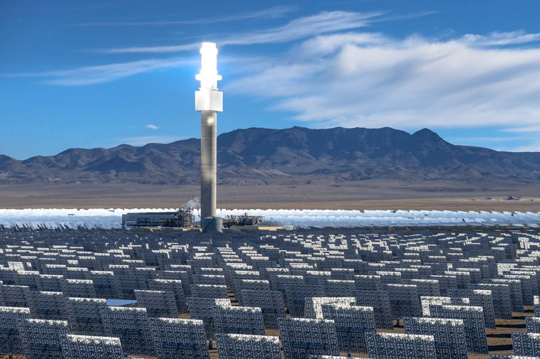 Large-scale solar developer SolarReserve has announced plans for the world's largest CSP plant. Source: SolarReserve