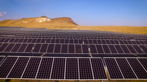 he solar plant, dedicated Thursday, features about 10MW in installed generation capacity, while the geothermal capacity is tabbed at 25MW. Image: SolarWorld