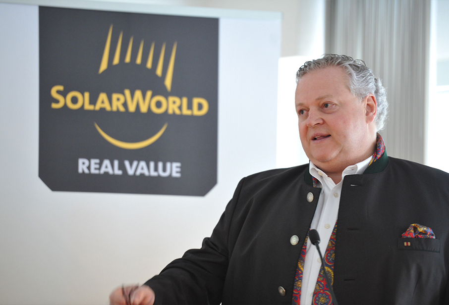 According to insolvency administration law firm, Horst Piepenburg, the business operations of SolarWorld AG and its German manufacturing subsidiaries had been stabilized and modules were being shipped to customers again. Image: SolarWorld