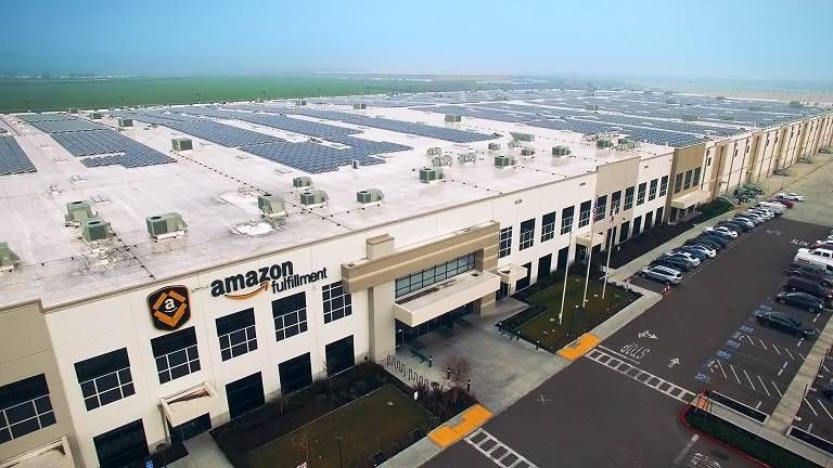 Amazon has become one of the world's top solar PPA offtakers as it works to reach net-zero emissions by 2040. Image credit: Amazon