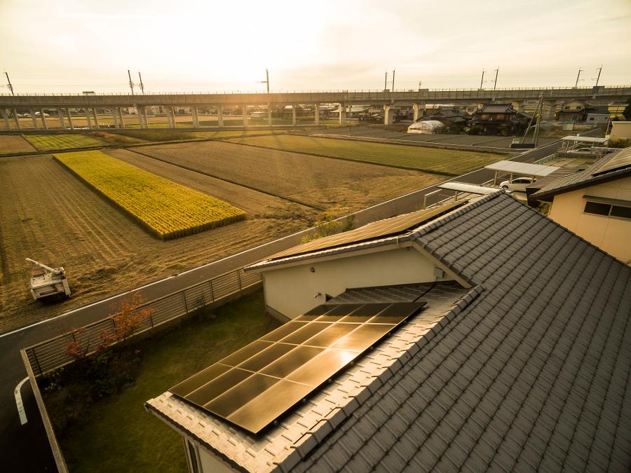The sun could be setting on Japanese 'mega solar', albeit gradually. Image: Solar Frontier.