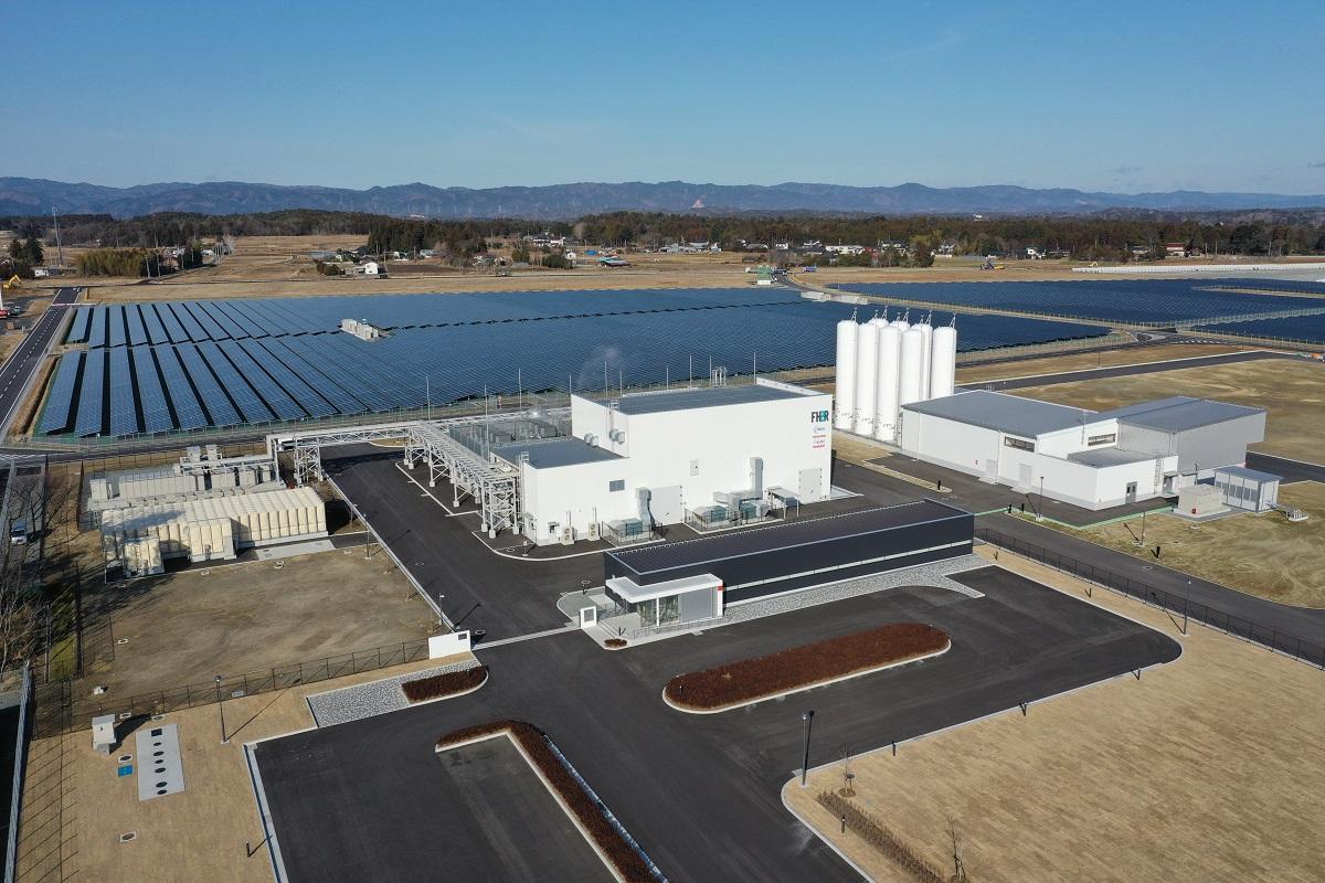 Toshiba's Solar to Hydrogen demonstration project. Image: Toshiba.