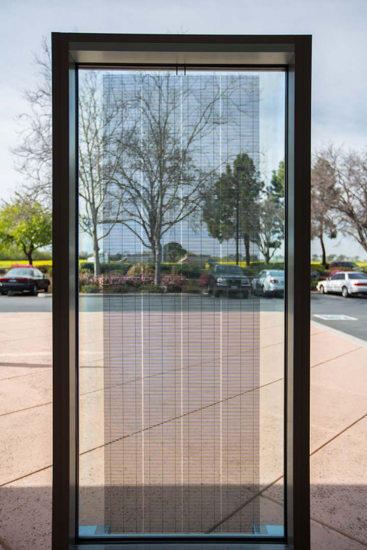 Solaria's unique solar cell process technology has allowed the company to develop vision glass that can be used in locations not typically associated with solar panels. Image: Solaria Corp
