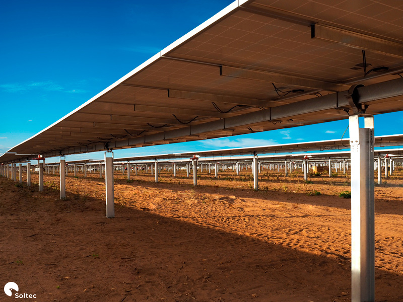 The 101MW PV project stands as the third large-scale PV tracking plant executed by Soltec in Brazil. Image: Soltec