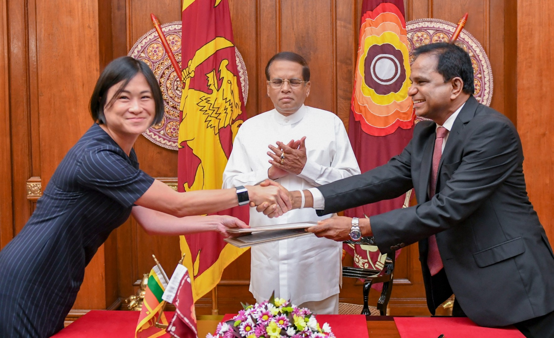 The MoU paves the way for Sri Lanka to build a 100MW floating farm with Canada's help (Credit: Sri Lankan Ministry of Power and Energy)