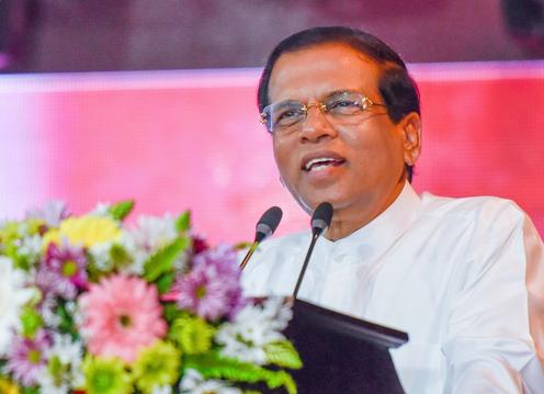 Sri Lanka president Maithripala Sirisena and the Cabinet are pushing forward with solar energy plans. Credit: Twitter Maithripala Sirisena