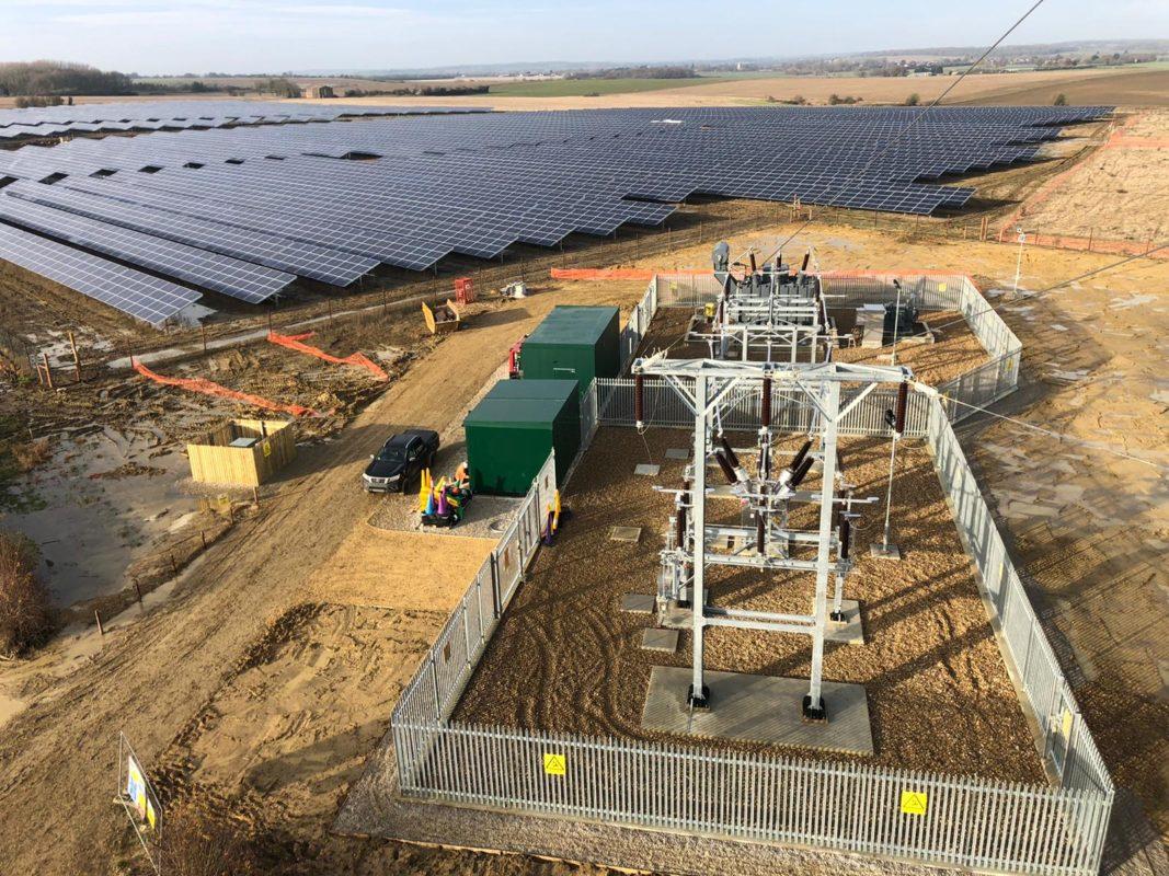 NextEnergy Solar Fund's 50MWp Staughton solar farm in the UK. Image: NextEnergy Solar Farm