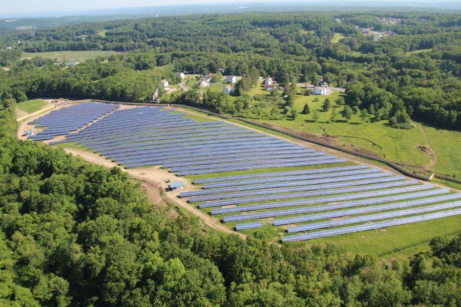 Existing solar farm in Sterling, Massachusetts. Image: Community Energy Inc.