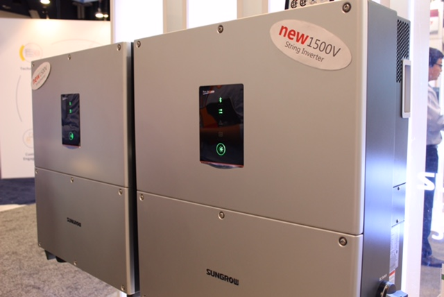 1500V string inverters are an emerging technology led by Sungrow. Image: Sungrow