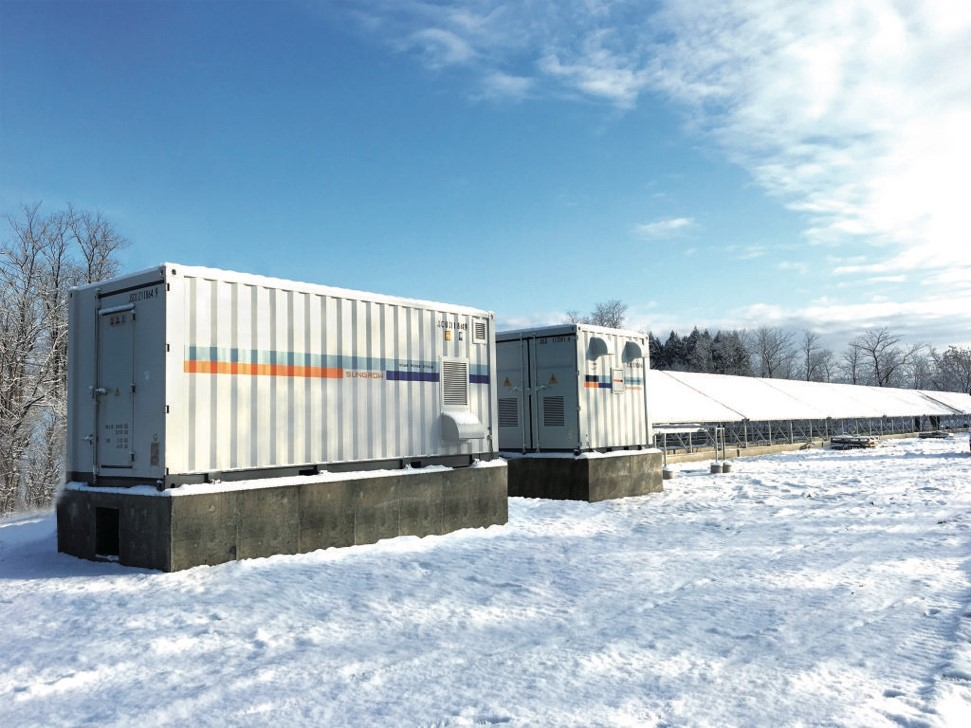 6.5MW/24.4MWh PV+Energy Storage Project, Akita-ken, Japan. Picture credit: Sungrow