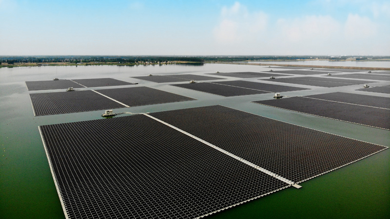 Sungrow has developed a niche in EPC work with major floating solar projects in the last few years. Image: Sungrow