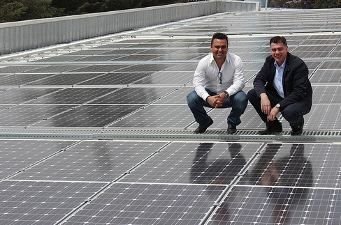 A Suniva solar PV rooftop installation in Mexico, the first country to use the Green Bond Facility. Credit: Suniva