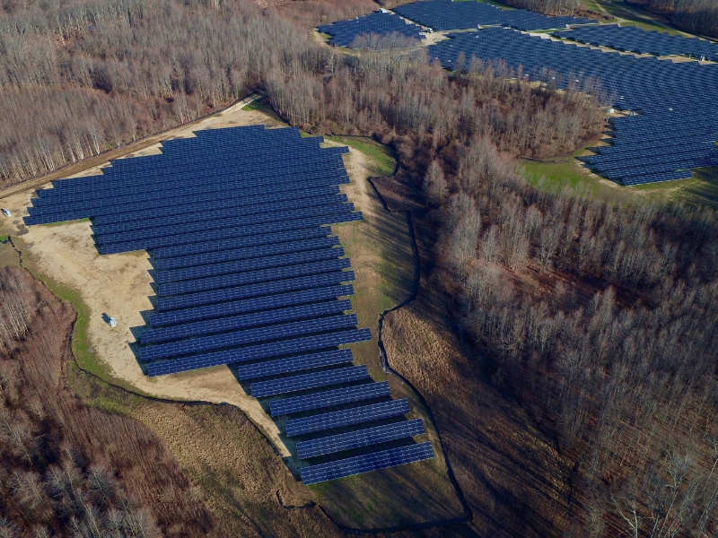 Sunpreme said had completed deployment of 12.8MW utility-scale project in the Eastern region of the US, using its bifacial double glass GxB370W panels, with 21.5% cell efficiency. Image: Sunpreme