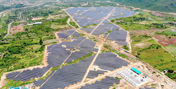 The plant was completed ahead of schedule in Ninh Thuan Province. Credit: Sunseap