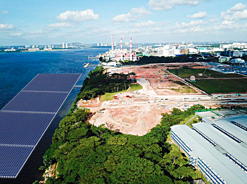 Singapore is already a hub of floating solar technology with the world's largest floating PV test-bed at Tengeh Reservoir. Credit: Sunseap