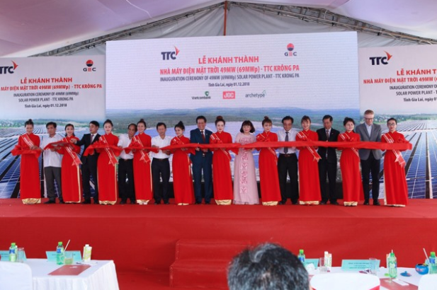 In October, the TTC Group and GEC also opened the 48MW Phong Dien solar power plant in Thua Thien-Hue Province. Credit: TTC Group