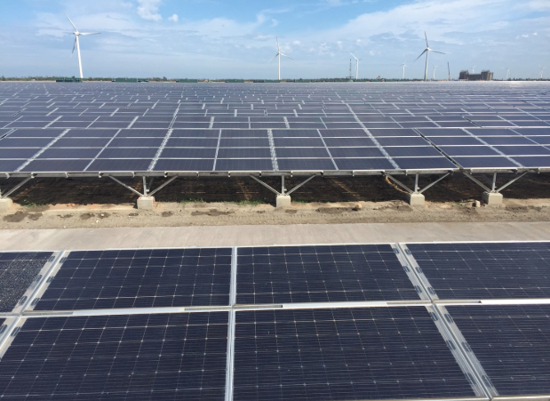 Power from 14MW of capacity at the 100MW project has now been connected. Credit: Taipower