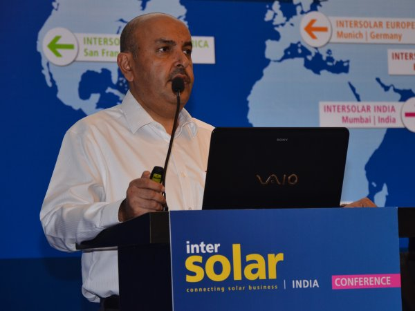 MNRE joint secretary announced several new initiatives including 'solar zones' and floating solar. Credit: Intersolar